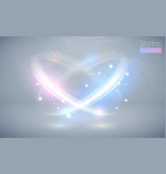 Circular lens flare blue and pink light effect vector