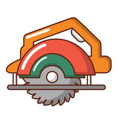 Circular saw icon cartoon style vector