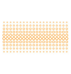Contour hexagon shape halftone array vector