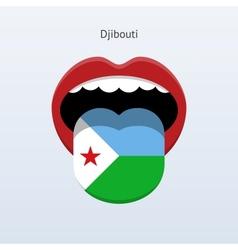 Djibouti language Abstract human tongue vector