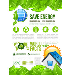 Ecology and environment energy infographics vector