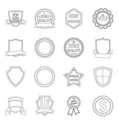Emblem and badge logo vector