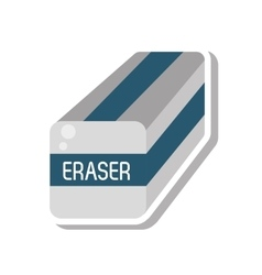 eraser school supply isolated icon vector image