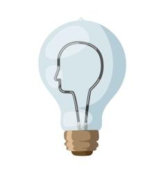 Face lamp concept vector