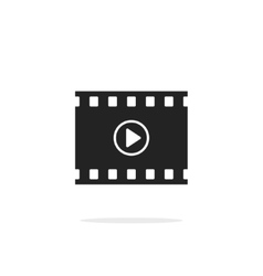 Filmstrip with play button icon video film vector image vector image