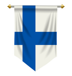 Finland pennant vector