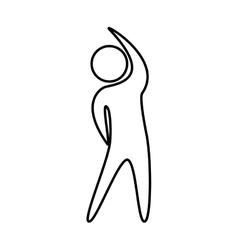 fitness sport athlete silhouette vector image