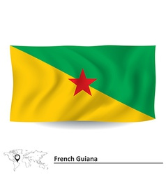 Flag of French Guiana vector