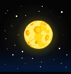 Full moon in night sky vector