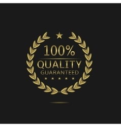 Golden Quality badge vector image