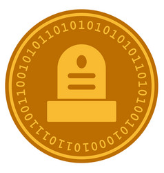 Grave digital coin vector