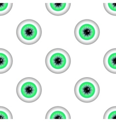 Green Eye Seamless Pattern vector image