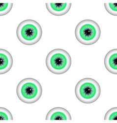 Green eye seamless pattern vector
