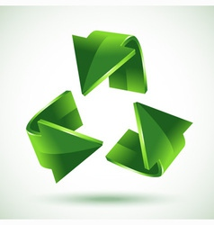 Green recycling arrows vector