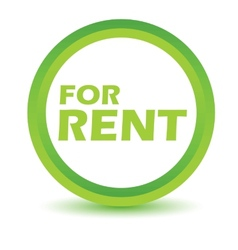 Green rent icon vector