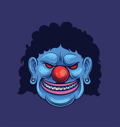 Halloween clown head vector