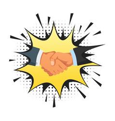 handshake gesture vector image