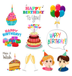 Happy birthday design elements vector