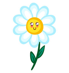 happy daisy on white background vector image