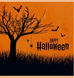 Happy halloween scary background scene festival vector