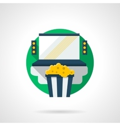 Home cinema color detailed icon vector