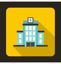 Hospital icon flat style vector image