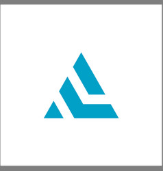 initial a triangle logo abstract vector image