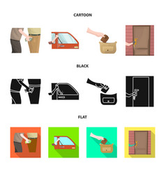 Isolated object crime and steal sign vector