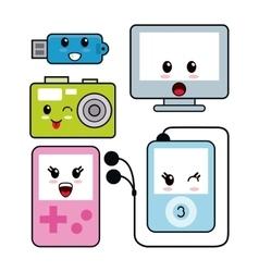 Kawaii icon technology Cartoon design vector