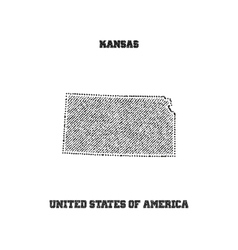 Label with map of kansas vector