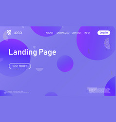 landing page geometric background vector image