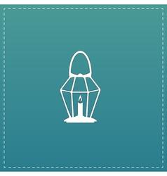 Lantern flat icon vector image