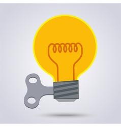 Light bulb wind up vector