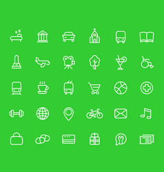 line icons set for maps and navigation apps vector image