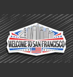 logo for san francisco vector image