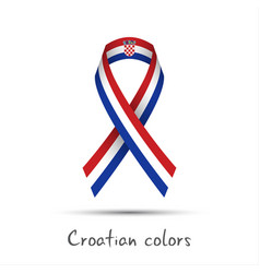 Modern colored ribbon with the croatian tricolor vector