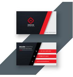modern red business card design vector image