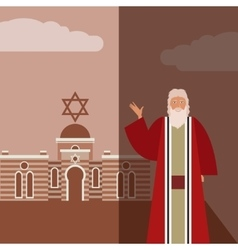 Moses Jew Banner vector image
