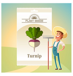 pack of turnip seeds icon vector image