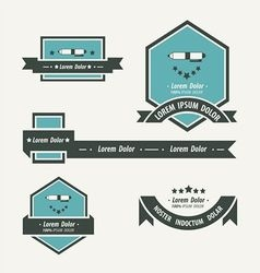 pen Label And Ribbon template vector image