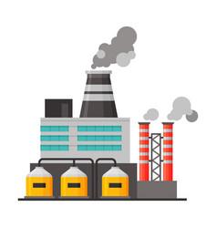 Power refinery plant industrial factory building vector