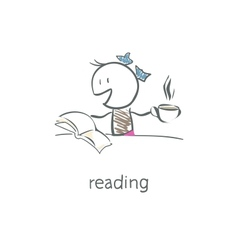 reader vector image
