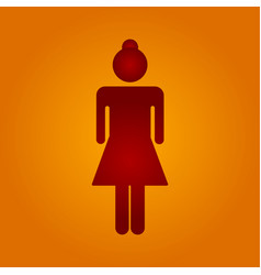 Red woman vector