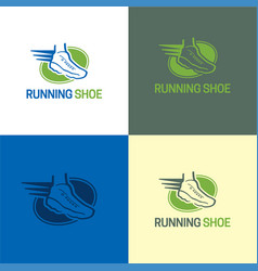 running shoe logo and icon vector image