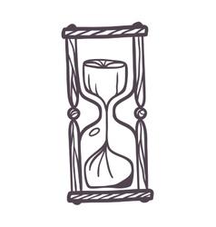 Sandglass vintage vector
