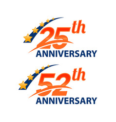 Set anniversary number signs symbolsyears vector