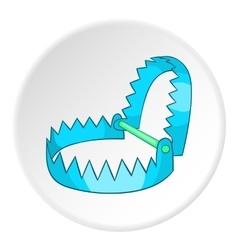 Sharp metal trap icon cartoon style vector