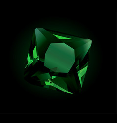 shiny faceted emerald vector image