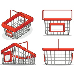 Shopping Bucket from Several Positions vector image