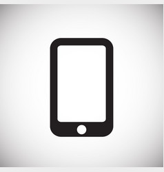 smartphone icon on white background for graphic vector image